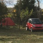 smart car and tent