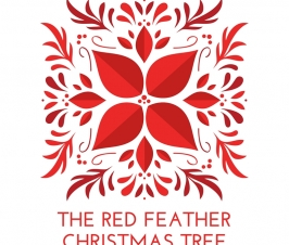 The Red Feather Christmas Tree